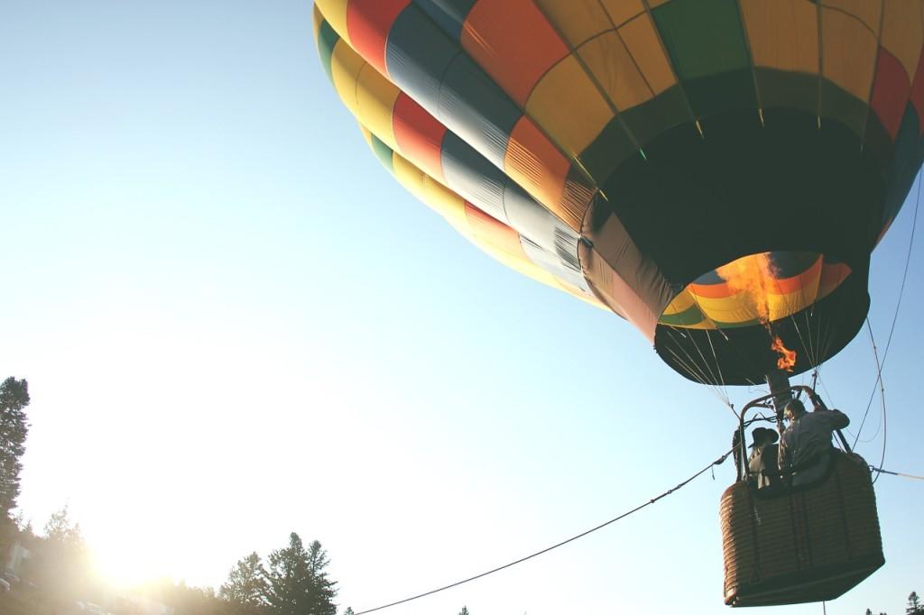 1. tip na dárek pro muže k 30. narozeninám let balónem