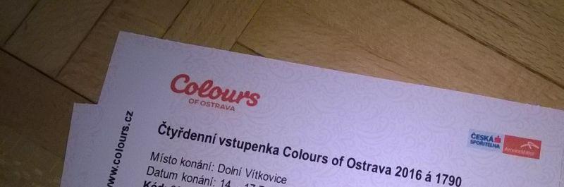 vstupenky na Colours of Ostrava